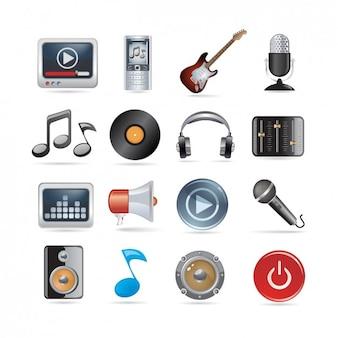 Colección de iconos musicales