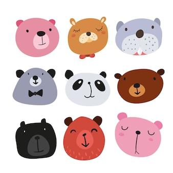 Colección de ilustraciones de osos