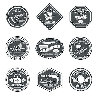 Colección de insignias geométricas