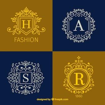 Colección de insignias ornamentales