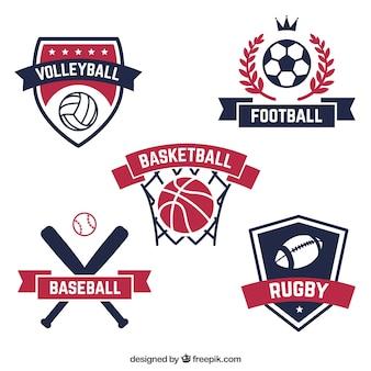 Colección de insignias retro de deporte