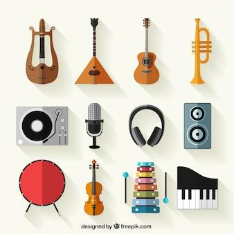 Colección de instrumentos musicales
