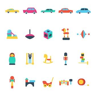 Colección de juguetes clásicos de niños
