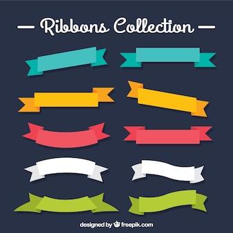 Colección de lazos de colores
