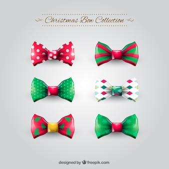 Colección de lazos de navidad
