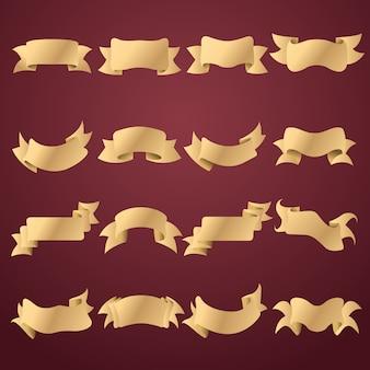Colección de lazos dorados