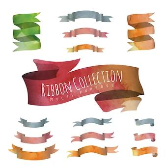 Colección de lazos en acuarela