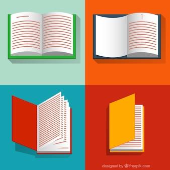 Colección de libros abiertos