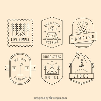 Colección de logo de camping