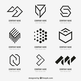 Colección de logo geométrico