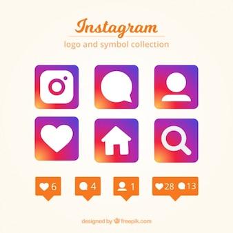 Colección de logo y símbolos de instagram