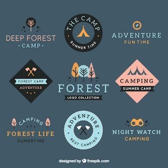 Colección de logos de aventura