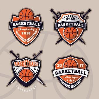 Colección de logos de baloncesto