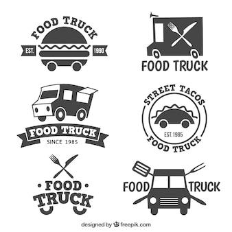 Colección de logos de camiones de comida