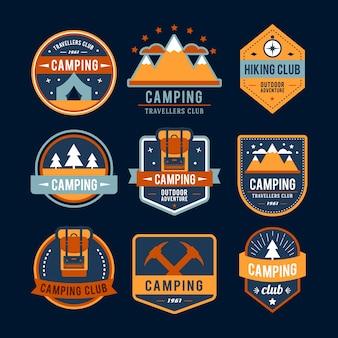 Colección de logos de camping