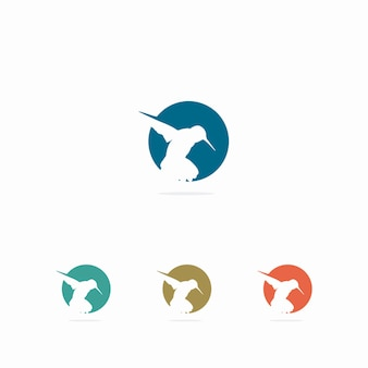 Colección de logos de colibrís