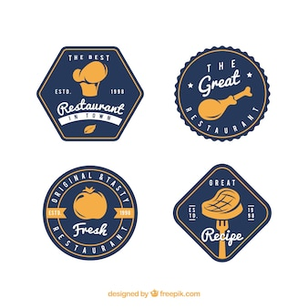 Colección de logos de comida
