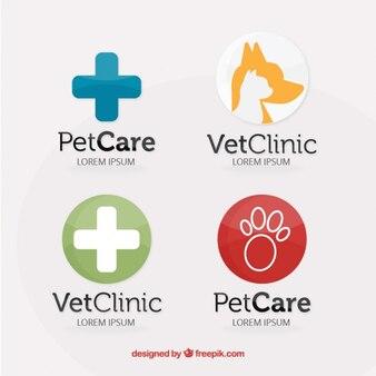 Colección de logos de cuidado de mascotas