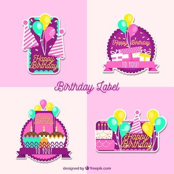 Colección de logos de cumpleaños
