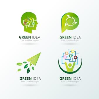 Colección de logos de ecología