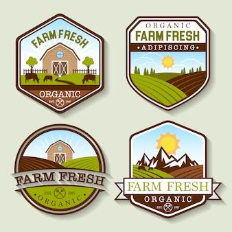 Colección de logos de granja