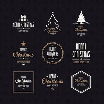 Colección de logos de navidad