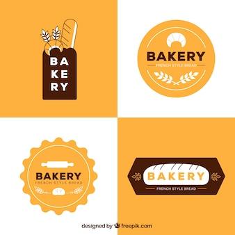 Colección de logos de panadería