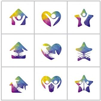 Colección de logos de paz