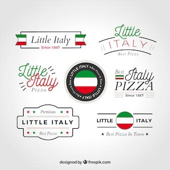 Colección de logos de pizza
