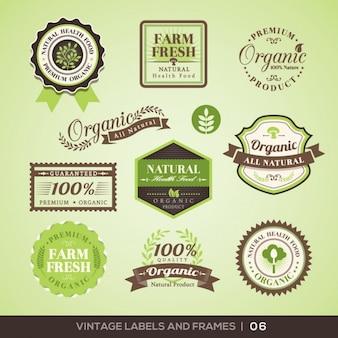 Colección de logos de productos de granja