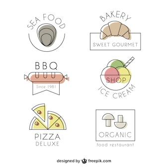 Colección de logos de restaurante elegantes