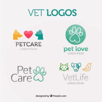 Colección de logos de veterinaria