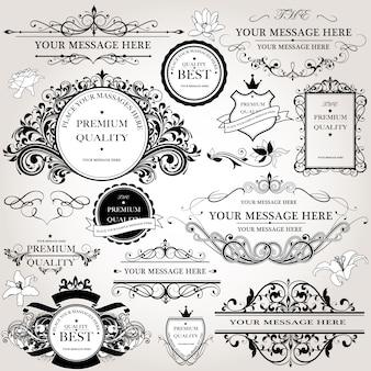 Colección de logos decorativos