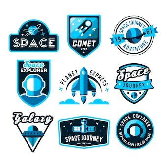 Colección de logos del espacio