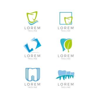 Colección de logos dentales