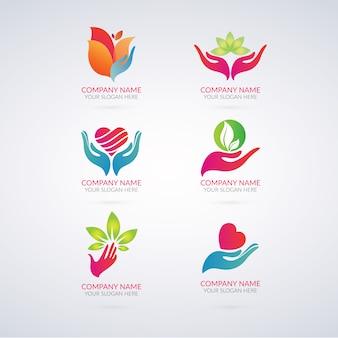 Colección de logos ecológicos