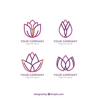 Colección de logos florales