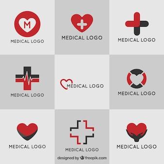 Colección de logos médicos