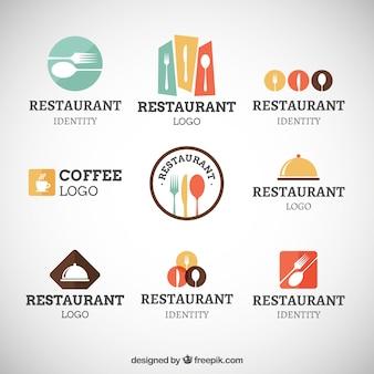 Colección de logos modernos de restaurante