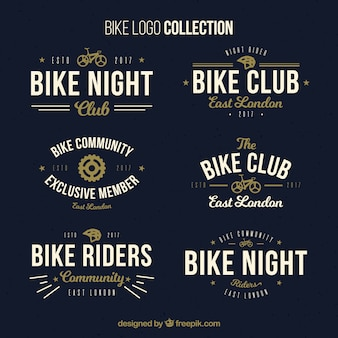 Colección de logos vintage de bicicletas