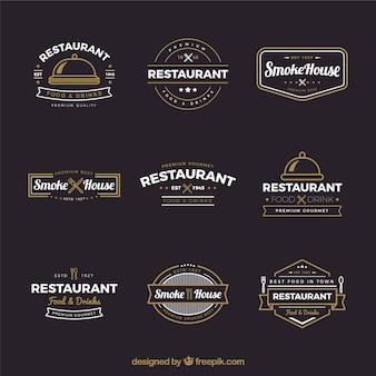 Colección de logos vintage de restaurante