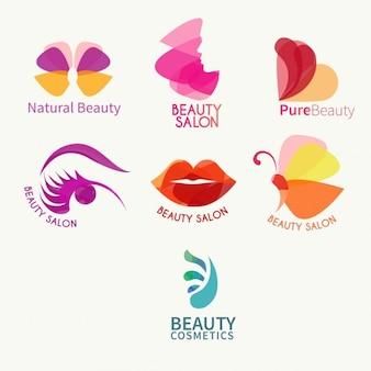 Colección de logotipos de belleza