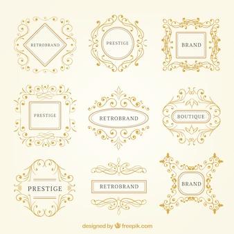 Colección de logotipos ornamentales