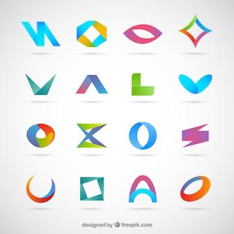 Colección de logotipos planos