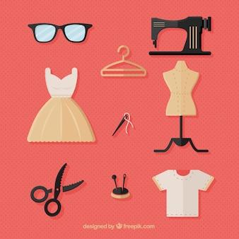 Colección de los elementos de costura