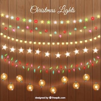 Colección de luces de navidad