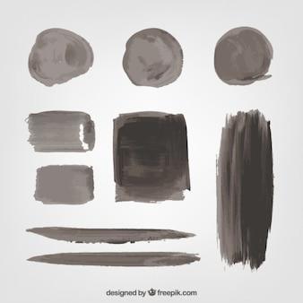 Colección de manchas de pintura negra