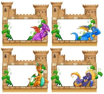 Colección de marcos de castillos