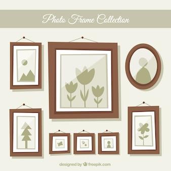 Colección de marcos de foto planos