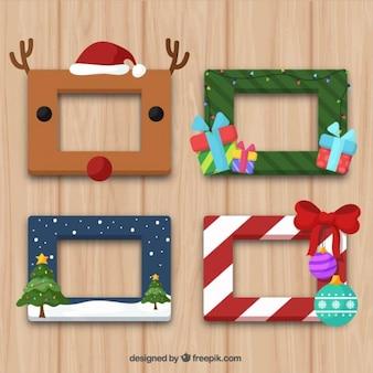 Colección de marcos de navidad